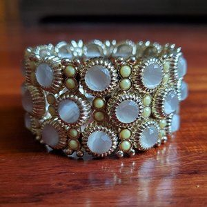 J.Crew Stretch Jeweled Cuff Bracelet